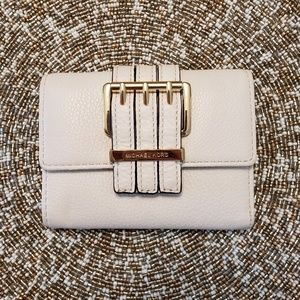 Gently Used Michael Kors White Wallet